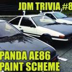 AE86 Panda paint scheme