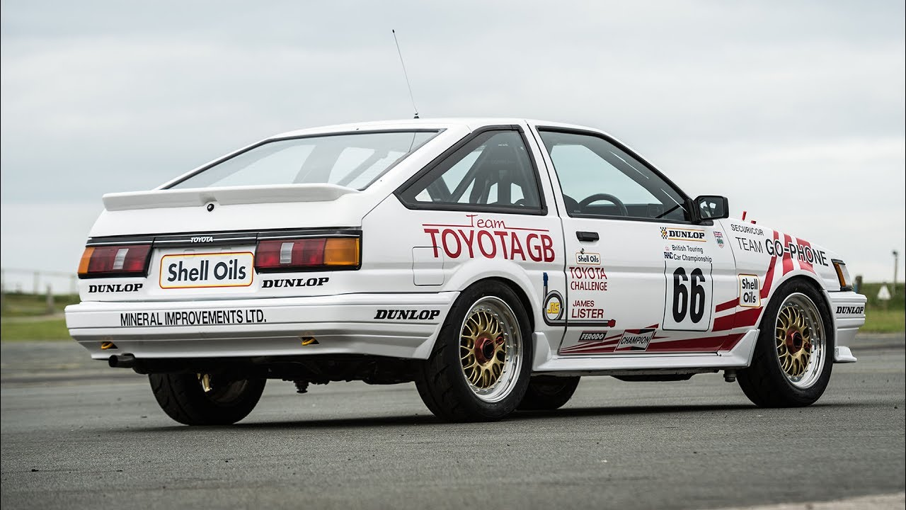 Toyota Corolla AE86 winning the BTCC in 1987