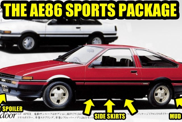The Toyota AE86 Sports Package