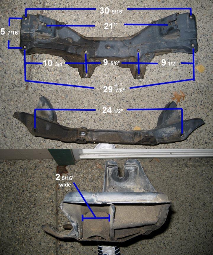 AE86 4AGE Crossmember measurements
