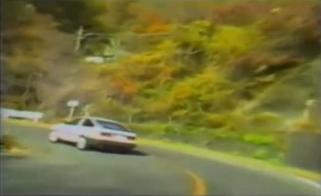 Pluspy illegal drift video Keiichi Tsuchiya Levin AE86